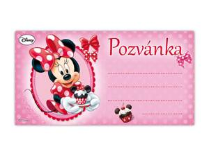 Pozvánka Y08 Minnie (10ks) (190x100mm)