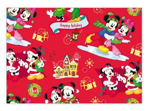 Baliací papier vianočný LUX YV019 Disney (Mickey and Minnie)